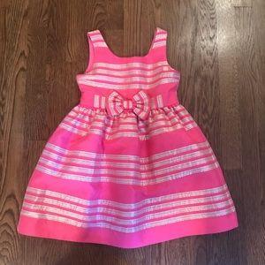 Lily Pulitzer Pink Bow Dress Sz 6 Girls